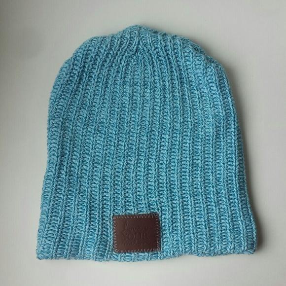 b0e65170d17 Love Your Melon Accessories - Love Your Melon Light Blue Beanie Ski Hat